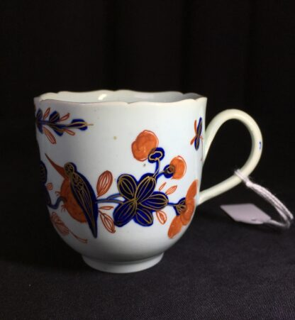 Vauxhall coffee cup, Imari bird & flower pattern, c. 1758-0