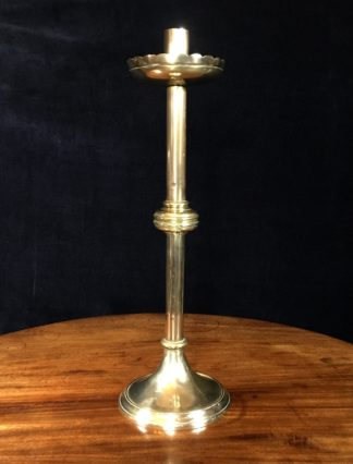 Large brass candlestick by Steeth & Son, Melbourne, late 19th C. -0