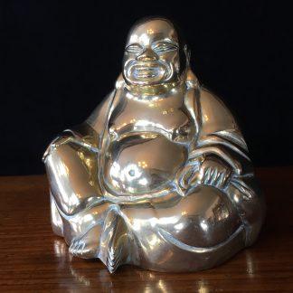 Brass Buddha, mid 20th century -0