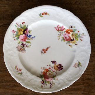 Coalport plate with flower decoration, Swansea style, C. 1825-0