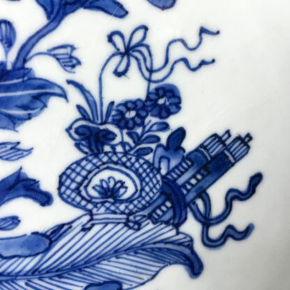 Chinese Export blue & white charger, flowers, c.1760-24773