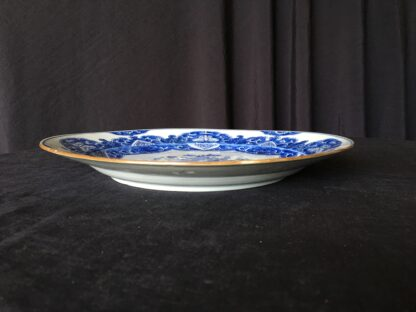 Chinese Export blue & white charger, flowers, c.1760-24778