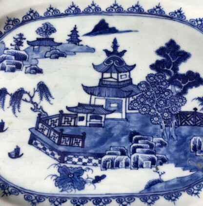 Chinese Export serving dish, river landscape, circa 1750-20279