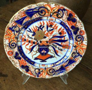 English porcelain plate, Imari pattern, poss. Chamberlain , c. 1810 -0