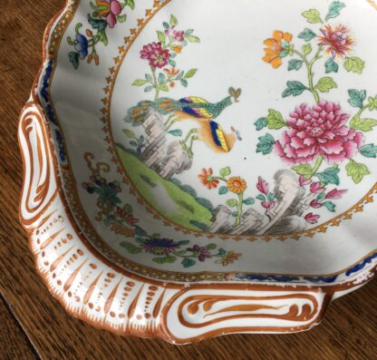 Spode shell shape serving dish, Chinese Export pattern 2118, c.1805-15.-18413