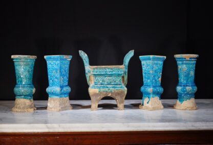 Ming Dynasty Pottery altar set