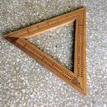Victorian triangle cribbage board. 19th c.-18723