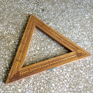 Victorian triangle cribbage board. 19th c.-0