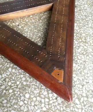 Australian hardwood triangle cribbage board. 19th c.-0