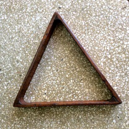 Australian cedar triangle billiards rack. 19th c.-18736