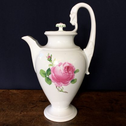 Meissen coffee pot with rose pattern, 19th century -0