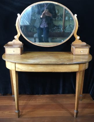 Hepplewhite revival mahogany dressing table, 19th century-0