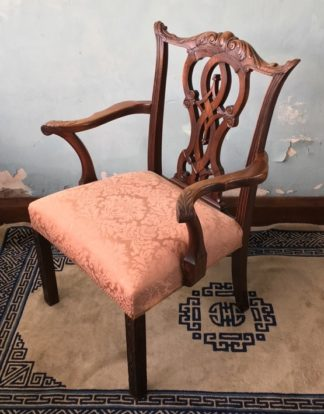 Chippendale style mahogany armchair, 19th century-0