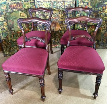 Four Rosewood chairs, circa 1850-0