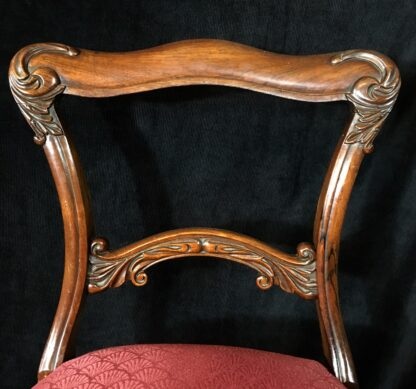 Four Rosewood chairs, circa 1850-19415