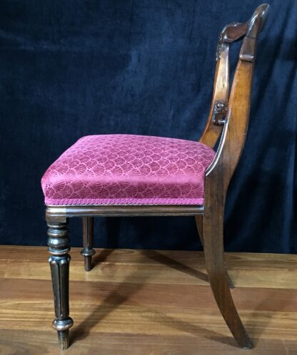 Four Rosewood chairs, circa 1850-19417