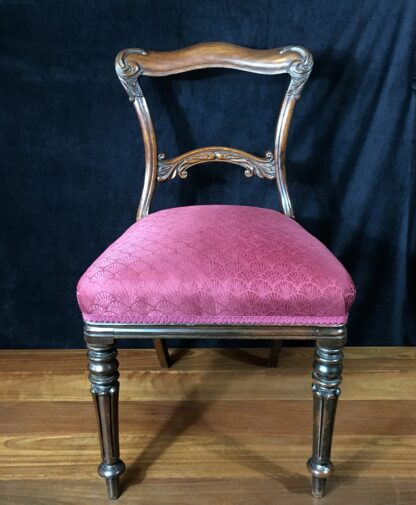 Four Rosewood chairs, circa 1850-19418