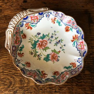 Spode 'Willis' pattern shell shape creamware dish, c.1820 -0