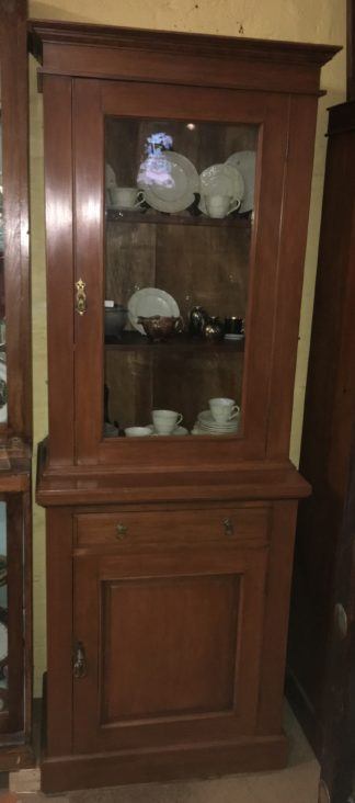 Small Kauri pine bookcase with solid door below, c. 1900 -0