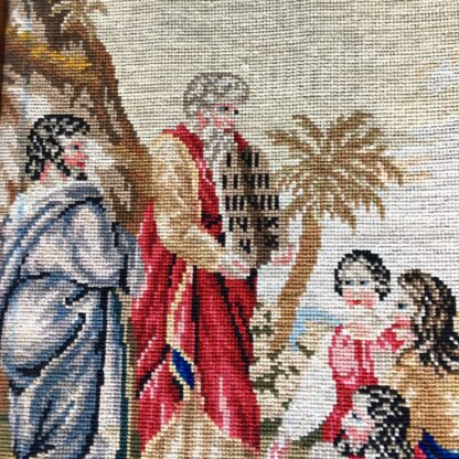 Victorian Woolwork, Moses & the 10 commandments, c.1860-19279