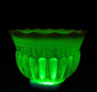 Uranium glass bowl, c. 1900 -0