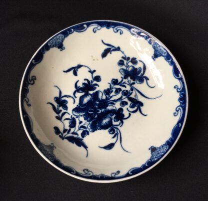 Worcester Mansfield pattern coffee cup & saucer, C. 1770 -20403