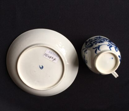 Worcester Mansfield pattern coffee cup & saucer, C. 1770 -20402