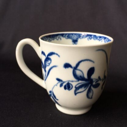 Worcester Mansfield pattern coffee cup & saucer, C. 1770 -20401