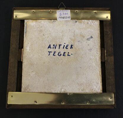 Dutch Delft Tinglaze blue & white tile, Biblical Scene, Circa 1700.-20111