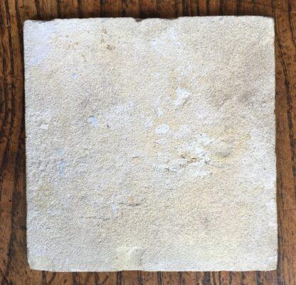Dutch Delft glazed tile, dog, 17th century. -20067