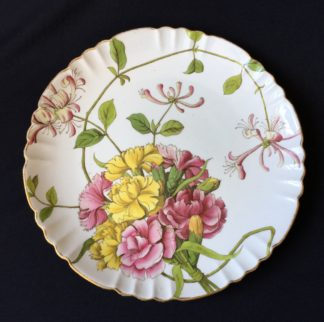 Minton plate, printed & painted with flowers, Melrose pattern c.1885-0