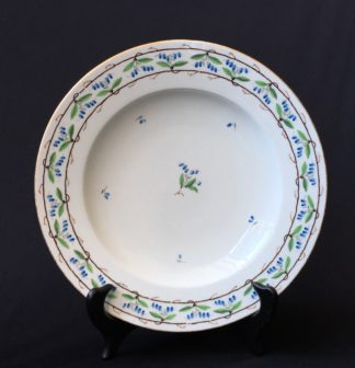 Vienna plate, unusual vine motif, dated 1800 -0
