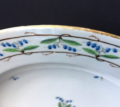 Vienna plate, unusual vine motif, dated 1800 -20323