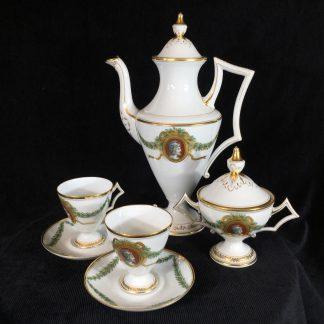 Paris porcelain Second Empire coffee service, C 1875 -0