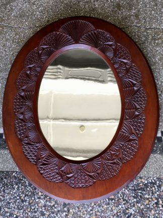 Australia chip carved mirror, dated 4/1/05 (1905)-0