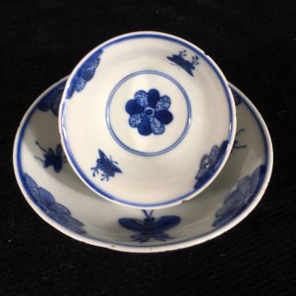 Chinese teabowl & saucer c.1720 -0