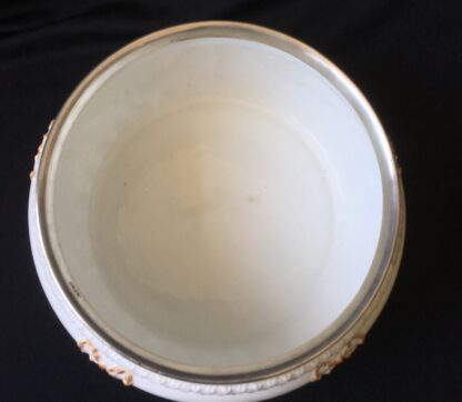 Victorian pottery salad bowl, plated rim, Taylor Tunnicliffe & Co. 1875-96-20314