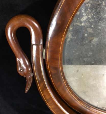 Danish Mahogany dressing table, oval mirror with swan head supports, c. 1815-19688