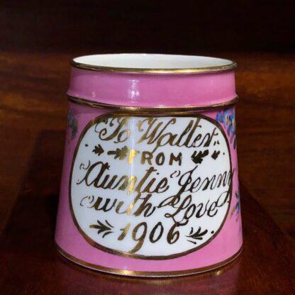 Edwardian presentation mug. C.1906-0
