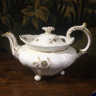 Minton teapot of 'Bath embossed' form, C. 1830. -0