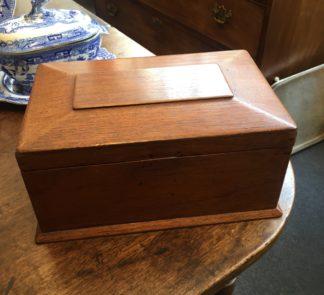 Australian cedar jewellery box with original silk interior, c.1850-0