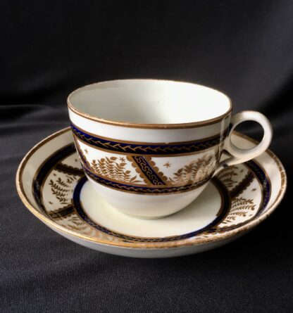 Newhall cup & saucer, pattern 583, C. 1800 -0