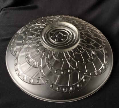 Art Deco frosted glass bowl, 20th century-21353