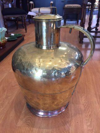 Large Dutch brass milk velle (Pail) ,19th Century -0