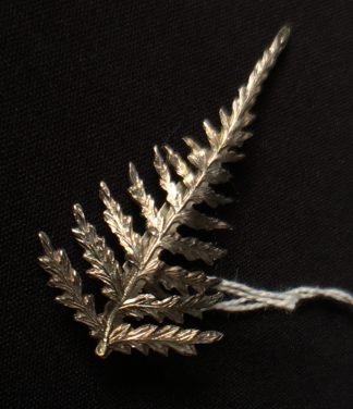Australian Silver fern bar brooch, later 19th century.-0