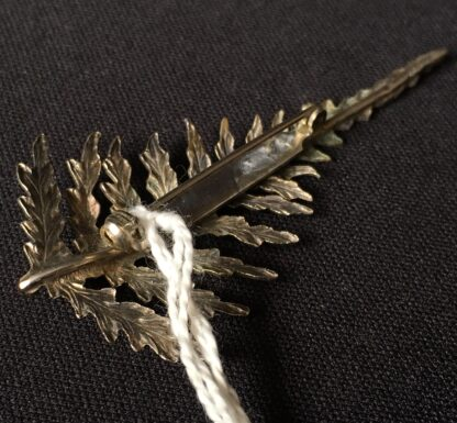 Australian Silver fern bar brooch, later 19th century.-21091
