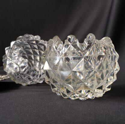 Pair of Old Sheffield Plate & glass Georgian salts, circa 1820-21114