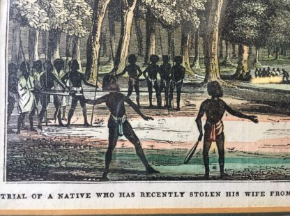 "Print of Aboriginal 'Trial of a native who has recently stolen his wife...."" , 1836-21248"