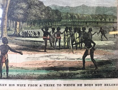 "Print of Aboriginal 'Trial of a native who has recently stolen his wife...."" , 1836-21249"