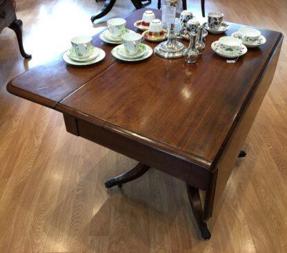Georgian mahogany Pembroke table, lions paw feet, c.1810-21188
